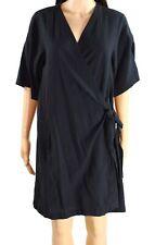 Eileen Fisher Womens Dress Black Size Small S Wrap Sheath Solid $229- 274