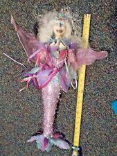 "Retired December Diamonds fabric mermaid lovely approx 22"" Vintage"