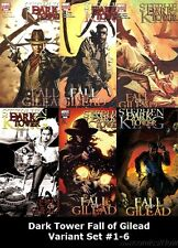 Dark Tower Fall of Gilead Variant Set #1-6 Stephen King Marvel 2009
