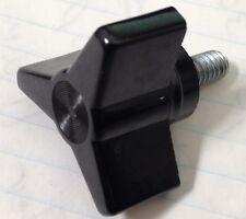 Set of Four- Black Three Arm Phenolic Knob with Steel 1/4-20 Stud
