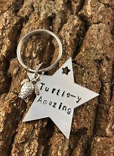 Turtle-y Amazing Aluminium Hand Stamped Keyring Teacher Nursery Thank You Gift