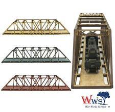 WWS Single Track N-Gauge Gray MDF Railway Girder Bridge 200mm
