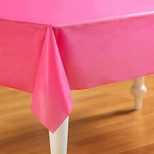 "Touch of Color, Plastic Table Cloth, 54x108"" Rectangle Cover - Candy Pink"
