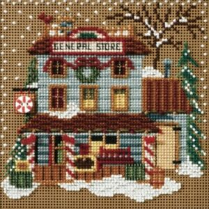 General Store Cross Stitch Kit Mill Hill 2007 Buttons & Beads Winter