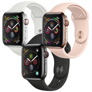 Apple Watch Series 4 44mm GPS Cellular 4G LTE Stainless Steel Gold Space Black