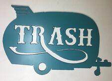 Vintage Trailer Trash Metal Wall Art Shasta Rv Camping Camper