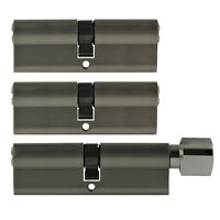 3x Tür Zylinder Schloss 80/90 mm gleichschliessend +5 Schlüssel Schliessanlage