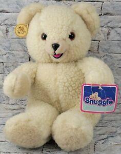 "RUSS Snuggle Teddy Bear Stuffed Animal Vintage '86 10"" Tall PLUSH TOY NEW w/ Tag"