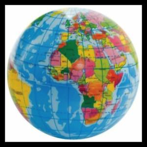 Soft Stress Relief World Map Foam Ball Atlas Globe Palm Ball Planet Earth Ball X