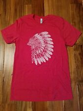 NEW JANE.com Beadsbee Boutique Indian Chief Headdress motorcycle t-shirt MEDIUM
