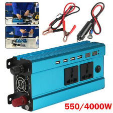 550/4000W Blue Car Inverter Power Car LED Solar Power Sine Wave USB Converter