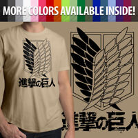 Attack on Titan Survey Recon Corps Scouting Legion Mens Cotton Crew Neck T-Shirt