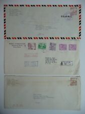Covers - Korea, three 1950's covers, air mail, one is registered