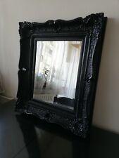 Beautiful Venice Ornate Black Ivory Morris Mirror