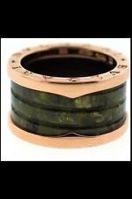 Bulgari 18k Yellow Gold B.Zero1 Green Marble ring