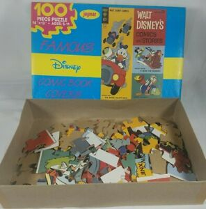 Walt Disney Comic Book 100 Pcs Jigsaw Puzzle Counted Complete Vintage See Pics!