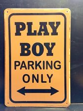 Play Boy Parking Only Metal Sign / Vintage Garage Wall Decor (30 x 20cm)