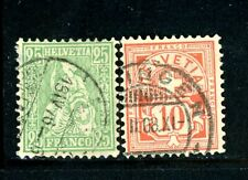 Switzerland Scott # 55a, 73b - Used - CV=$52.50