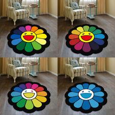 Takashi Murakami Sunflower Cool Floor Rug Carpet Room Doormat Non-slip Chair Mat