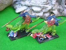 Warhammer Lagarto Saurus caballería x2 Pintado