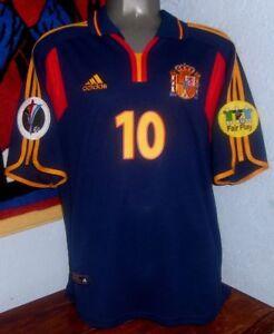 ADIDAS SPAIN AWAY EURO2000 RAUL L ORIGINAL SOCCER JERSEY SHIRT