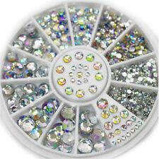 300 x Pcs Nail Art 3D Glitter Rainbow Rhinestone Decoration Diamante Crystal Gem