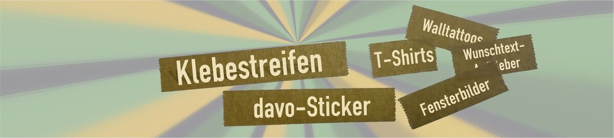 Klebestreifen  -  davo-Sticker