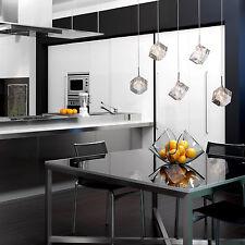 5-Lights Island Lighting Chrome Crystal Chandelier Fixture Modern Ceiling Lamp