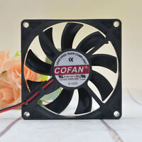 COFAN F-8015H12BII 12V 0.35A 8cm 2-wire chassis Large air volume fan 1PCS