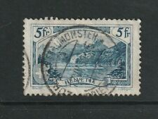 "Switzerland 1934 5fr View Blue ""Sprenger"" Used"