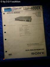 Sony Service Manual XDP 4000X Digital Equalizer Pre Amplifier (#5396)