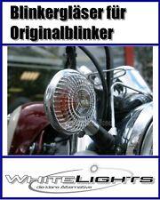 Weisse Blinker Yamaha XVS 650 XVS 1100 Drag Star Vmax 1200 clear signal lenses