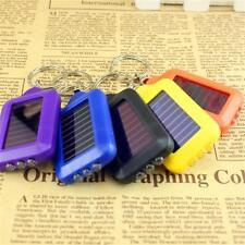 5PCS Rechargeable Mini Solar 3 LED Light Lamp Keychain Flashlight Key Ring