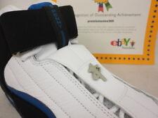 Nike Air Penny IV, Kobe, White / Black / Atlantic Blue, 864018 100, Sz 10.5