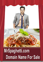 Mr Spaghetti .com  Domain Name For Sale URL Brand Your Food Biz Easy To Say