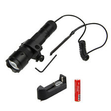 5000LM GREEN LED Q5 Tactical Flashlight Torch Mount Lamp Rifle Gun Rail Hunting