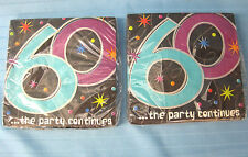 2 Packs 16-2PLY Adult Birthday Beverage Napkins Amscan 60..the party continues