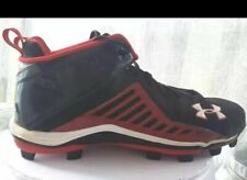 Under Armour Mens Athletic Shoes Black Lace Up Mid Top Heat Gear Sneakers 12 M