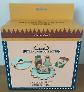 KitchenCraft The Christmas Nutcracker Collection 7 Piece Cookie Cutter Set - New