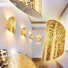 Licht Effekt Wand Leuchten Glas goldfarben Flur Dielen Wohn Schlaf Zimmer Lampen