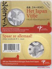 "NEDERLAND 5 EURO  2009: ""HET NEDERLAND-JAPAN VIJFJE"" IN COINCARD"