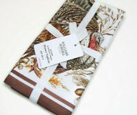 Williams Sonoma Thanksgiving Autumn Fall Plymouth Turkey Dinner Napkins Set of 4