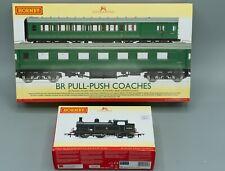 Hornby R3631 Wainwright H-class BR tank locomotive & R4534D BR Push-Pull Coach