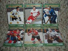 "2011-12 SCORE ""THE FRANCHISE"" 6 CARD INSERT SET.howe,hull.beliveau FREE SHIPPING"
