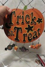 Wooden Cut Out HALLOWEEN Jack O'Lantern Pumpkin Stack - Trick or Treat Figurine