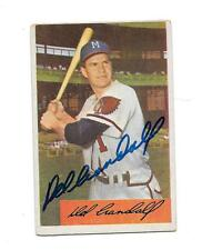 1954 Bowman #32 DEL CRANDALL Autograph / Signed card Milwaukee Braves