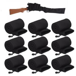 "9Pack 54"" Silicone Treated Black Rifle/Shotgun Sack Gun Sock Sleeve Storage Case"