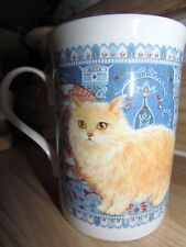 Orange Long Hair Cat Coffee Tea Mug Crown Trent Bone China England Lesley Anne