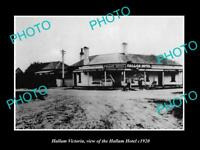OLD LARGE HISTORIC PHOTO OF HALLAM VICTORIA, VIEW OF THE HALLAM HOTEL c1920