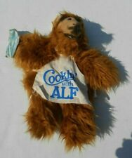 Vintage 1988 Cookin' With ALF Plush Hand Puppet Wearing Apron Chef Hat